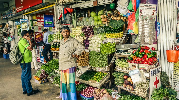 Local market in Kandy Sri Lanka