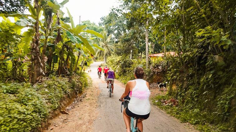 Things to do in Sri Lanka. Explore Koggala Lake by bike