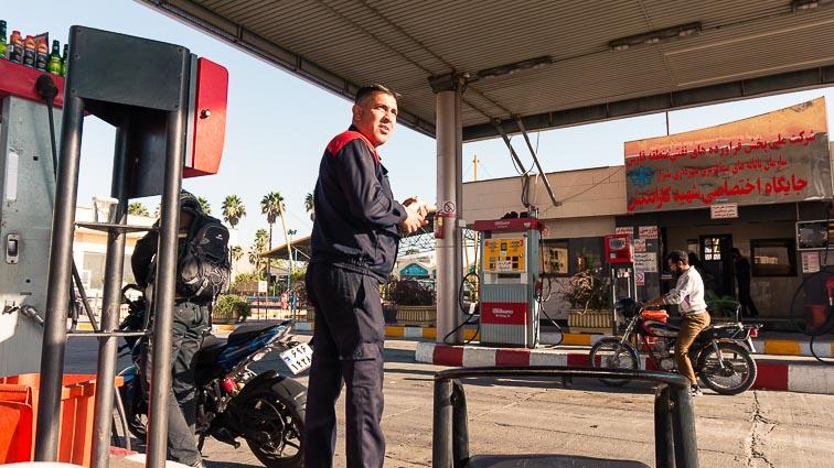 Renting a car in Iran. Car rental Iran. Traffic in Iran. Gas station