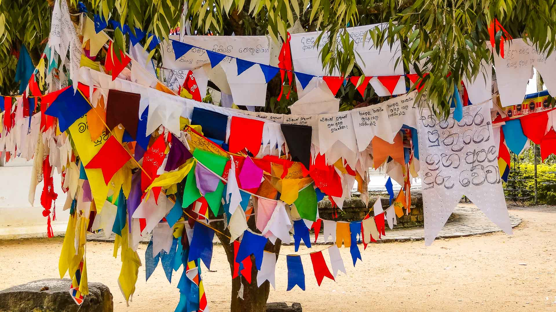 Highlights Sri Lanka. Prayer flags