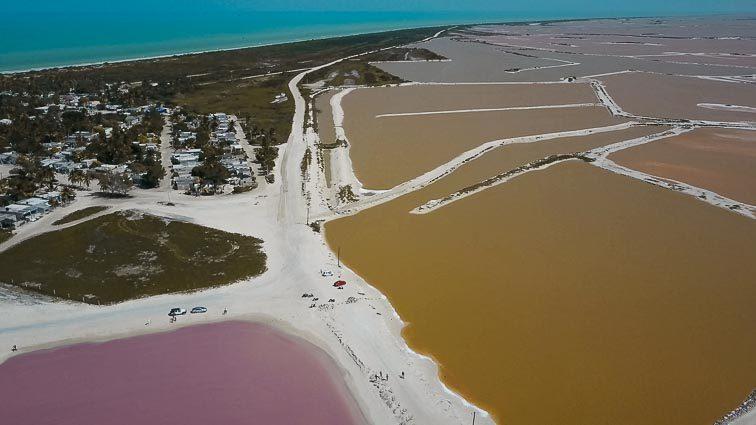 Pink Lakes, Las Coloradas, Mexico. Taken with Mavic Pro