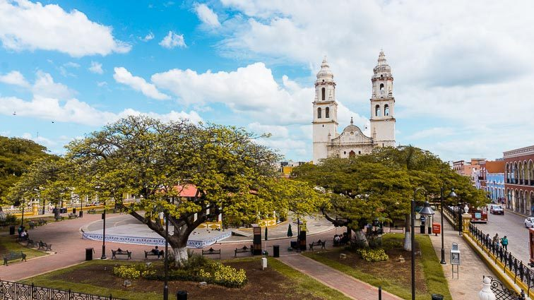 Church of Campeche seen from our balcony