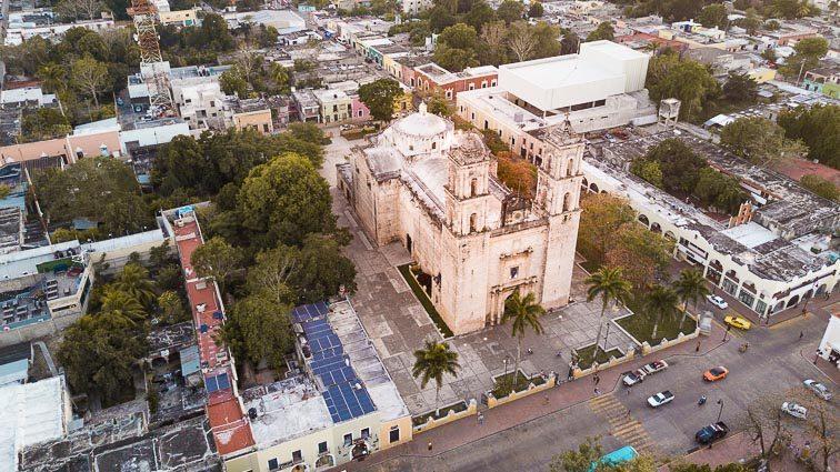 The curch of Valladolid, Catedral de San Servasio. Mexico