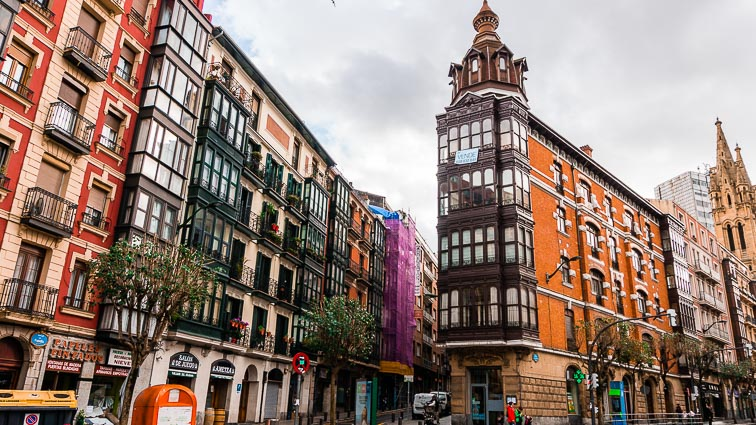 Street view in Bilbao
