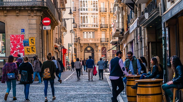 The streets of Casco Viejo, Pamplona