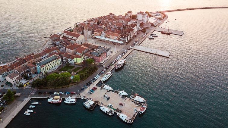 The harbor of Umag, Croatia: croatia road trip