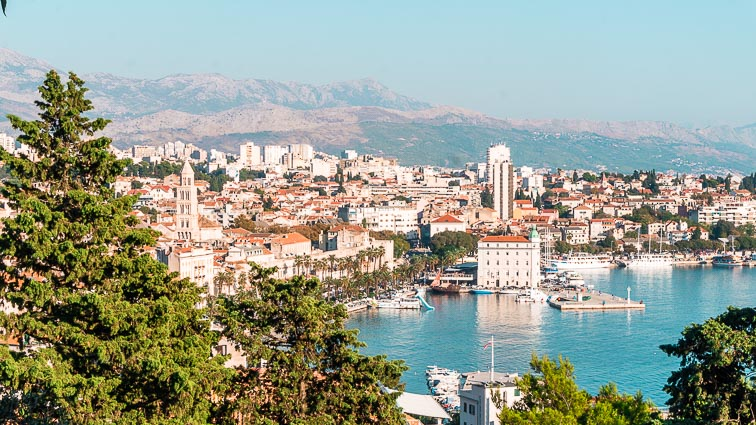 Panorama of Split, Croatia: croatia road trip