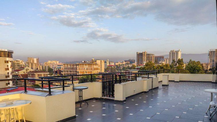Uitzicht over Addis Ababa
