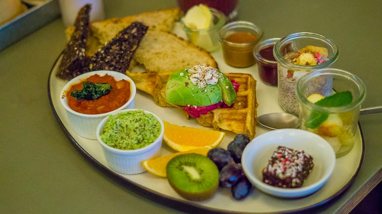 This is what a brunch looks like at Cafe Blå