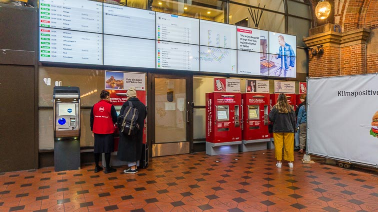 Ticket machines at Copenhagen train station
