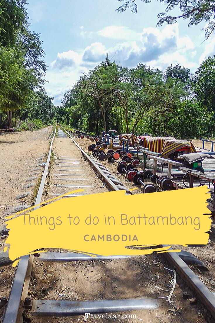 Railroad with carts in Battambang