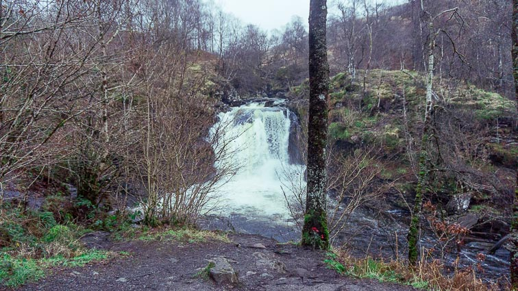 Falls of Falloch on our Scotland road trip
