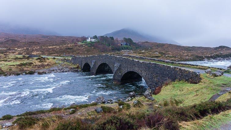 old stone bridge over the Sligachan river